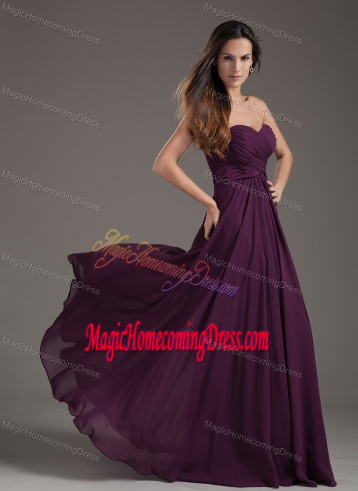 Dark Purple Sweetheart Empire Ruches Homecoming Dress in Meppen Germany