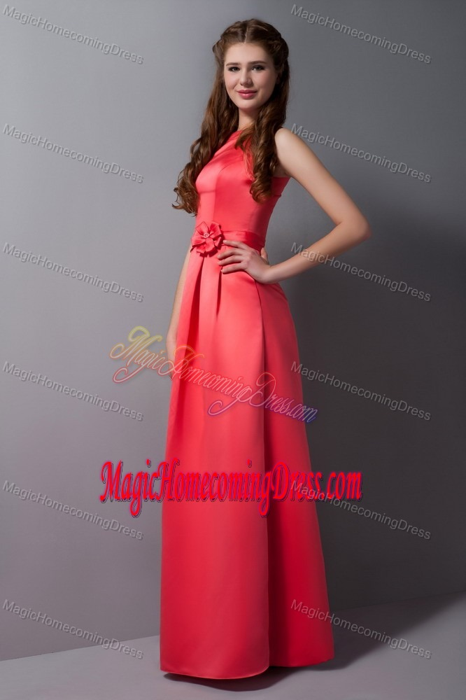 High Neck Belt Rust Red Taffeta Caledon Ontario Homecoming Gowns