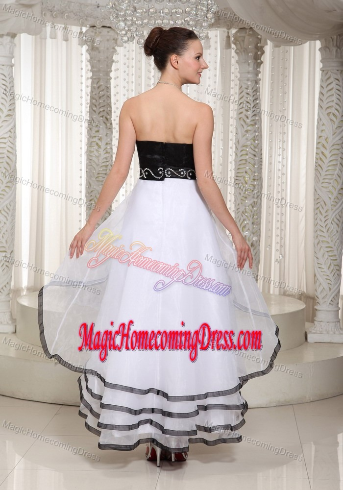 Layers Sweetheart Beading High-low Homecoming Dress On Promotion