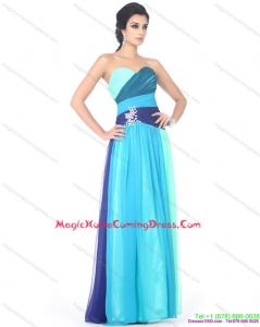 2015 Multi Color Sweetheart Homecoming Dresses with Ruffles and Beading