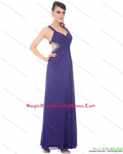 2015 Unique Criss Cross Homecoming Dresses On Sale with Ruching and Beading