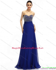 Fashionable 2015 Sweetheart Homecoming Dress with Brush Train and Beading