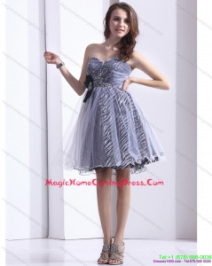 Fashionable Sweetheart Leopard 2015 Homecoming Dress with Beading