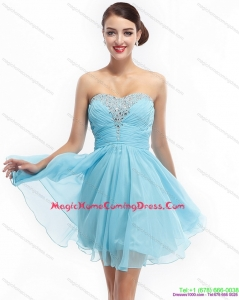 Ruching Strapless Beading Short Homecoming Dresses On Sale for 2015