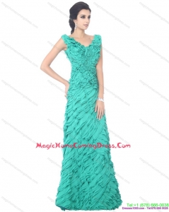 2015 Apple Green Homecoming Dresses with Ruffled Layers