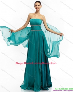 2015 Cute Strapless Homecoming Dress with Ruching and Beading