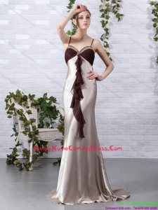 2015 Multi Color Beading Homecoming Dresses with Backless and Brush Train