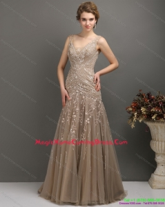 2015 Cute Empire Homecoming Dress with Brush Train and Appliques