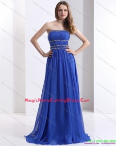 2015 Strapless Homecoming Dress with Ruching and Beading