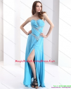 2015 Sweetheart Ruching Homecoming Dresses with Beading