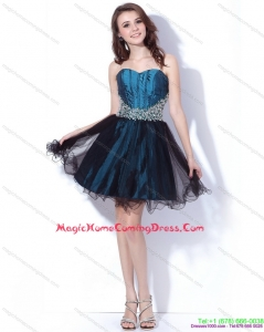 Cute Multi Color Sweetheart Sequined and Ruffled Homecoming Dresses for 2015