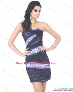 Juniors Mini Length Strapless Leopard Homecoming Dress for 2015