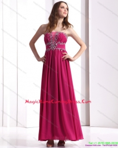 Juniors Strapless Floor Length 2015 Homecoming Dress with Beading