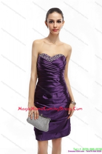 Sweetheart Mini Length Homecoming Dresses On Sale with Ruching and Beading