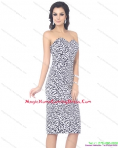 Zebra Printed Sweetheart Knee Length Homecoming Dresses On Sale for 2015