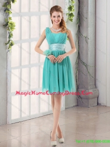 2015 Elegant Straps Ruching Sweetheart A Line Homecoming Dress
