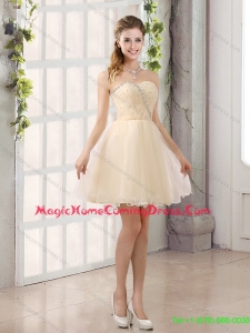 2015 Top Seller Sweetheart A Line Homecoming Dresses with Beading