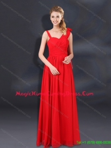 2015 Pretty Ruching Empire Homecoming Dresses with Asymmetrical