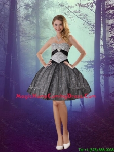Best 2016 Sweetheart Appliques Homecoming Dresses with Mini Length in Grey
