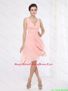 2016 Homecoming Elegant V Neck Side Zipper Lovely Perfect Homecoming Dresses with Asymmetrical