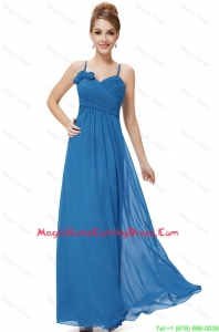 Cheap Spaghetti Straps Homecoming Dresses with Hand Made Flowers