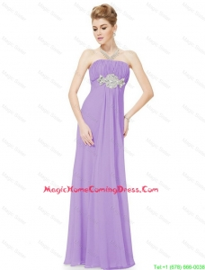 2016 Empire Strapless Beaded Homecoming Dresses in Lavender