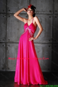 Pretty Empire Spaghetti Straps Criss Crossv Lovely Perfect Homecoming Dresses with Beading