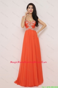 Pretty New Arrivals Brush Train Homecoming Dresses with High Slit and Beading