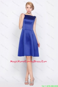 Cheap 2016 Modest Empire Bateau Homecoming Dresses in Royal Blue