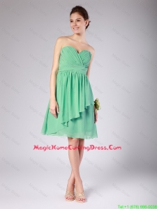 Exquisite Sweetheart Short Ruching and Belt Lovely Perfect Homecoming Dresses