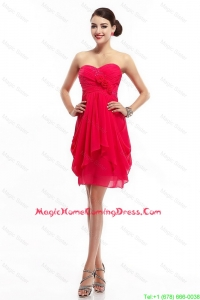 Fashionable Hand Made Flowers Homecoming Dresses with Sweetheart