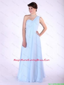 New Arrivals Brush Train Ruched Lovely Perfect Homecoming Dresses with One Shoulder