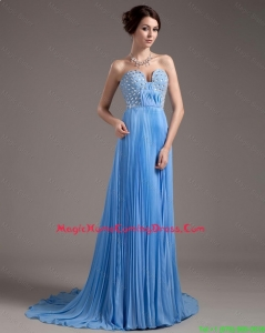 Pretty Discount Brush Train Sweetheart Homecoming Dresses in Baby Blue