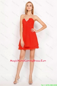 Pretty Popular Sweetheart Beaded Side Zipper Homecoming Gowns in Red