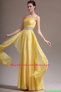 2016 Beautiful Empire One Shoulder Vintage Homecoming Dresses with Beading