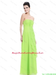 Beautiful New Arrivals Strapless Beaded Homecoming Dresses in Spring Green