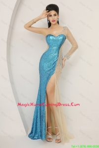 Luxurious Sequined Multi Color Homecoming Dresses with Long Sleeve