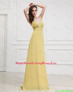 Luxurious High Low Beaded Lovely Homecoming Dresses with Criss Cross