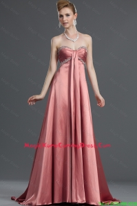 Most Popular Beading Elastic Woven Satin Lovely Homecoming Dresses with