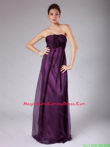 Perfect Ruched Sweetheart Homecoming Gowns with Hand Made Flowers