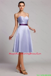 Cheap Modern Empire Sweetheart Short Homecoming Dresses with Belt for Homecoming