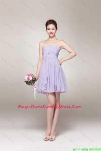 Cheap New Style Strapless Homecoming Gowns with Mini Length