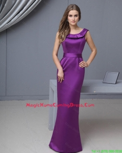 Beautiful Column Scoop Lovely Homecoming Gowns with Floor Length
