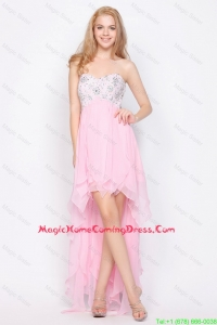Beautiful Wonderful Empire Sweetheart High Low Homecoming Dresses with Beading
