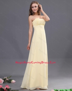 Discount Sweetheart Ruching Light Yellow Lovely Perfect Homecoming Dresses