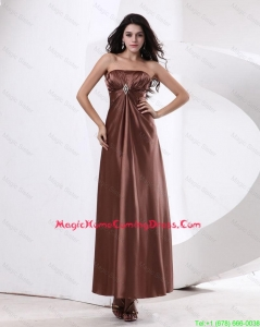 Fashionable Strapless Lovely Homecoming Dresses With Ankle Length