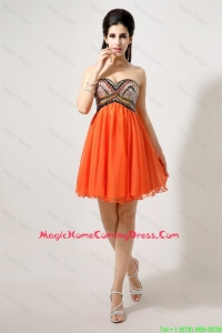 Latest Beaded and Sequined Homecoming Dresses in Orange