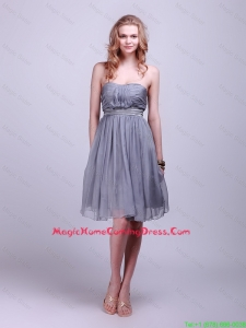 2016 Homecoming Classical Strapless Short Lovely Perfect Homecoming Dresses with Belt and Ruching