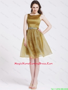 Beautiful Short Lovely Perfect Homecoming Dresses with Beading and Belt