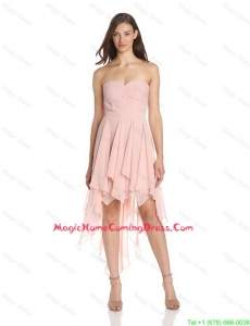 Cheap 2016 Luxurious Column Sweetheart Asymmetrical Homecoming Dresses with